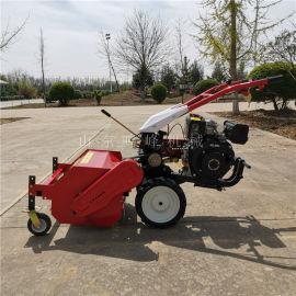 園林維護高效除草還田機,自走式果園荒草還田機