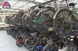 停车场热镀锌自行车停放架 双层立体自行车停放架