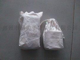 惠州工厂专业定做棉布束口袋 音响包装抽绳袋