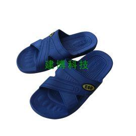 SPU防静电拖鞋净化无尘防护拖鞋男女洁净工作鞋子软底黑蓝白色