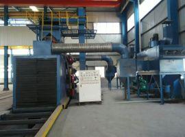 抛丸机厂家东兴解说钢结构抛丸机的技术参数