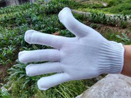 雙王白色尼龍線手套