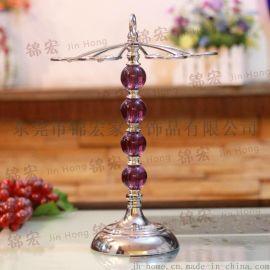 亚克力铁艺置地杯架/水晶置地杯架/欧式创意杯架