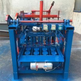 宜欣4-35半自动市政检查井砌块砖机,梅花垫块机生产厂家