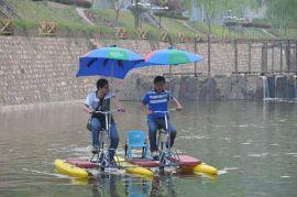 HEITRO海德龙聚乙烯香蕉浮筒双人情侣水上自行车