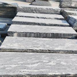 浪淘沙石材花岗岩地铺 海浪灰楼梯台阶幻彩麻灰干挂 大理石板材