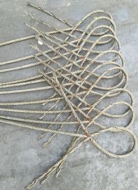起重吊索具 手工插编钢丝绳索具  钢丝绳插编14mm*4m 支持定制