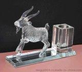 水晶羊 雕刻羊  精品羊年禮品  辦公擺件