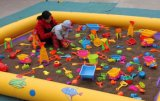 南寧充氣海洋球池出租,北海充氣攀巖租賃,兒童節沙灘遊戲道具出租**