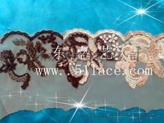 网布绣花,网布花边,东潮花边厂供应