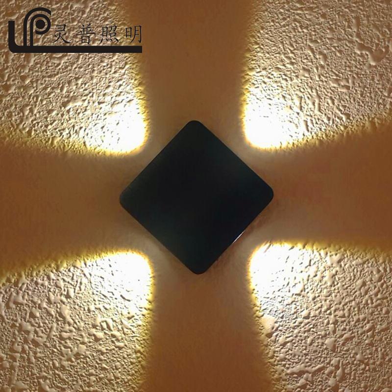 LED壁灯防水户外阳台露台灯 十字星光装饰壁灯 科锐COB压铸铝欧式