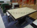 西餐厅实木餐桌椅,高档实木餐桌椅广东鸿美佳厂家提供
