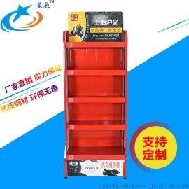 厂家定制上海沪光展示架商店生活用品陈列架鞋油置物架单面架