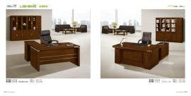 礼胜家具办公台实木大班台电脑桌