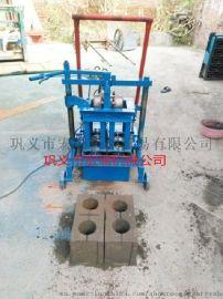 水泥砖机 移动式水泥制砖机 两相电空心砖机 小型马路花砖机