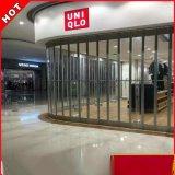 铝合金透明折叠门 广州推拉弧形门机场店铺  水晶