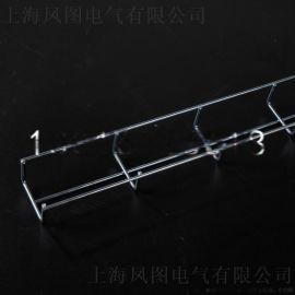 电镀锌网格桥架 卡博菲式机房上走线定制电缆桥架金属线槽50*30mm