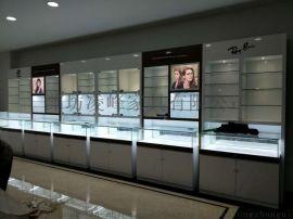 潍坊眼镜展柜厂、设计制作眼镜玻璃展柜、眼镜背柜