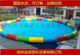 吉林长春室外充气游泳池/加厚充气水池订制