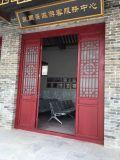 西安仿古实木门窗定制、寺庙松木门窗、中式古建木窗