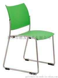 时尚高档塑料椅 塑料餐椅 休闲塑料洽谈椅 口字脚塑料培训椅