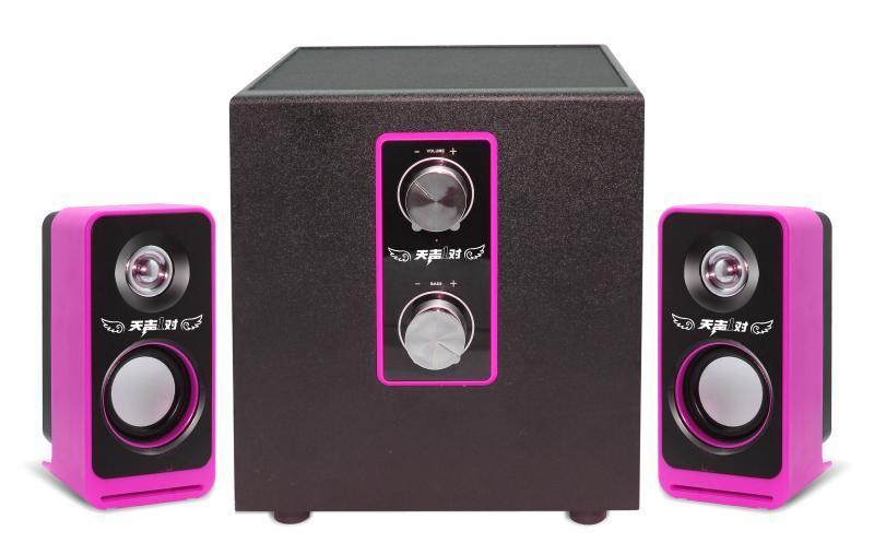 爱放if-2110音响2.1组合式音箱 USB接口5V供电台式笔记本电脑音响