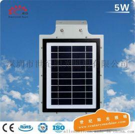 热销东南亚5W太阳能灯光控智能感应庭院灯led一体化太阳能路灯