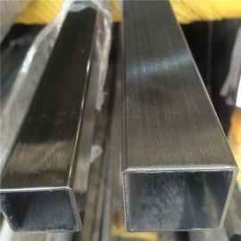 玫瑰金不锈钢方管,拉丝不锈钢304,不锈钢工业管