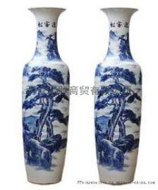 西安开业大花瓶 开业大吉!陶瓷锦绣山河花瓶