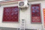 中式古典红色铝门花 中式仿古隔断铝门花窗