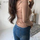 迪卡軒杭州服裝尾貨女裝批發市場在哪余女裝 品牌折扣服飾加盟尾貨粉色襯衫