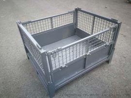 新款重型折叠铁框仓储笼网格铁皮周转箱储物笼铁框