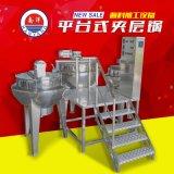 廣東醬料夾層鍋機組不鏽鋼立式電加熱炒鍋帶平臺廠家