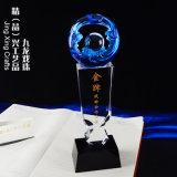 九龍戲珠 水晶琉璃獎盃 廣州水晶琉璃紀念獎盃訂製