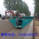 农田灌溉水渠成型机 高铁梯形渠滑膜机设备