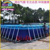 大型動漫水樂園戶外成人支架游泳池 戶外大型支架水池 兒童游泳池水上樂園 不鏽鋼池