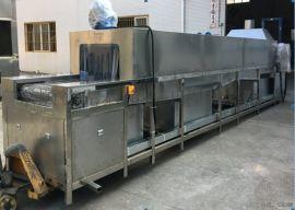 梅州履带式钢管批量除油清洗机 管材清洗烘干一体机