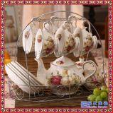 景德鎮陶瓷茶具歐式咖啡具套裝 家用花茶下午茶咖啡具套裝