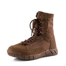 战术鞋男夏季特种兵超轻透气棕色战靴战术陆战靴登山鞋户外靴沙色