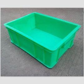 加厚周转箱塑料箱带盖蓝色仓储收纳塑料物流箱折叠中转EU箱子定制
