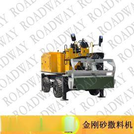 撒料机,路得威RWSL11涡轮增压柴油发动机高精度加工布料辊撒料均匀金钢砂,金刚砂撒料机,金刚砂,金钢砂撒料机,