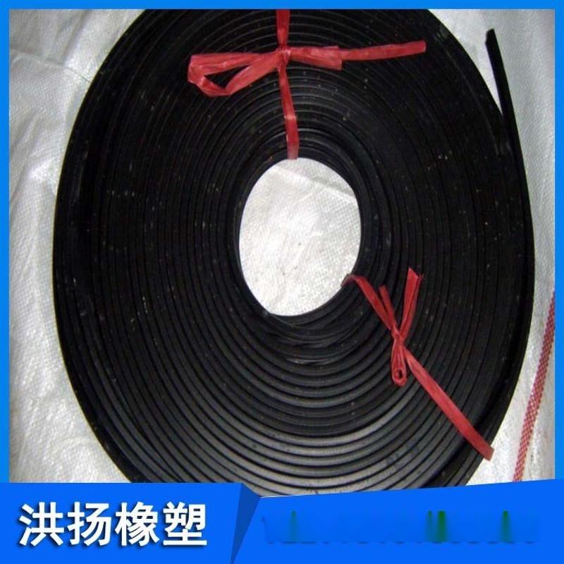 高耐磨天然膠橡膠條 黑色橡膠膠條 抗老化實心膠條