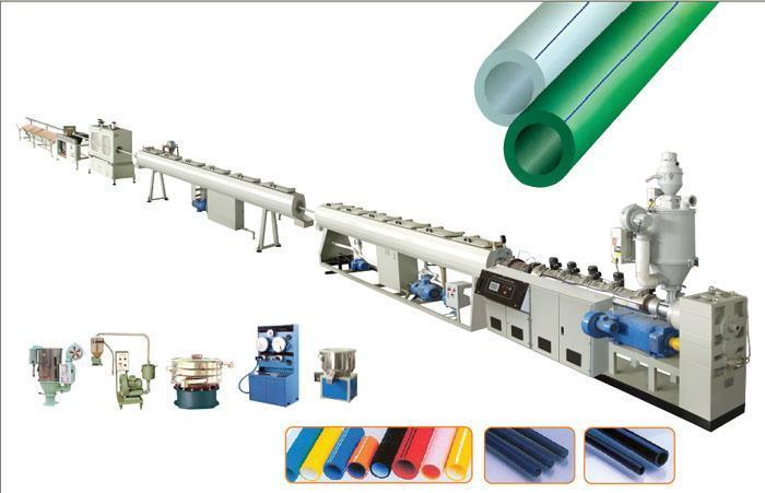 PPR冷热水管生产机械,PERT地暖管生产线
