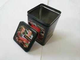 江苏苏州华鹏金属包装定制方形马口铁咖啡罐