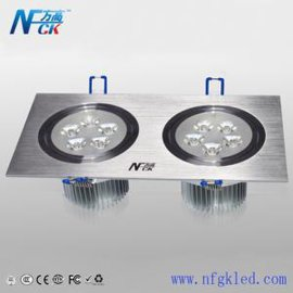 方高照明 LED双头方形天花灯6W 10W  14W射灯 筒灯 面板灯 质保三年