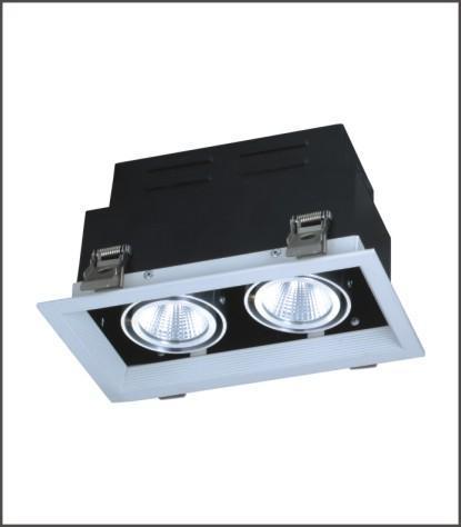 COB双头豆胆灯 商业办公工程商业照明灯具 LED光源格栅灯