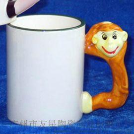 热转印陶瓷涂层杯 生肖手把马克杯 热转印彩环陶瓷杯