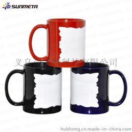 热转印花纸杯 花边彩色马克杯 创意热转印空白杯子 diy个性陶瓷杯