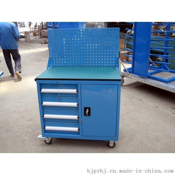 移动重型工具车带背板工具柜