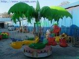 廠家直銷旋轉鞦韆電動飛魚/12座椰子旋轉飛魚/兒童小飛魚遊樂設備
